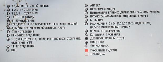 Схема корпусов боткинская больница москва